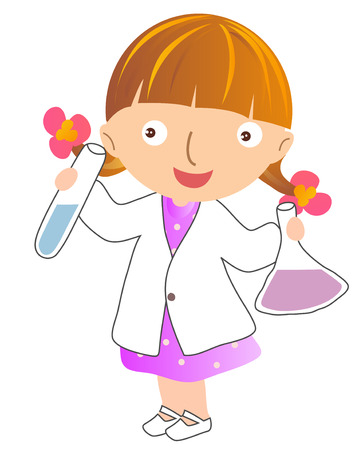 chemists: Illustration of a young scientist