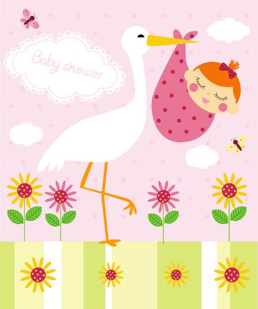 baby gift: Baby shower Illustration
