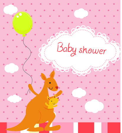 baby drawing: Baby shower Illustration
