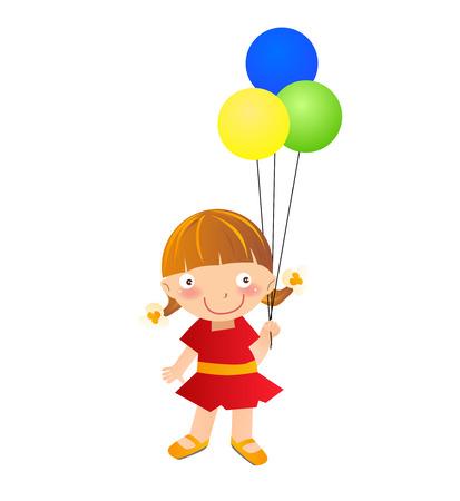 little child: A little girl with balloon