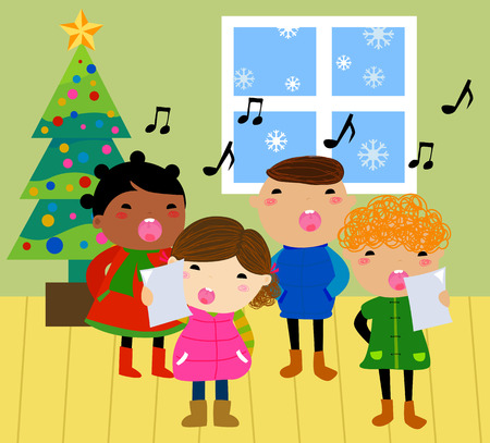 Christmas carols Vector