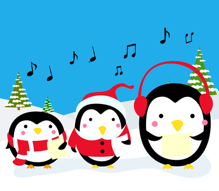 carolers: Penguins Christmas Carolers