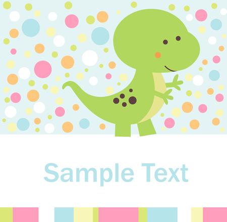 baby dragon: Baby shower Illustration