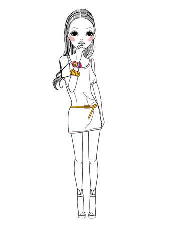 bstract: Fashion girl