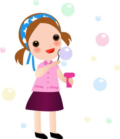 cute girl Ilustração