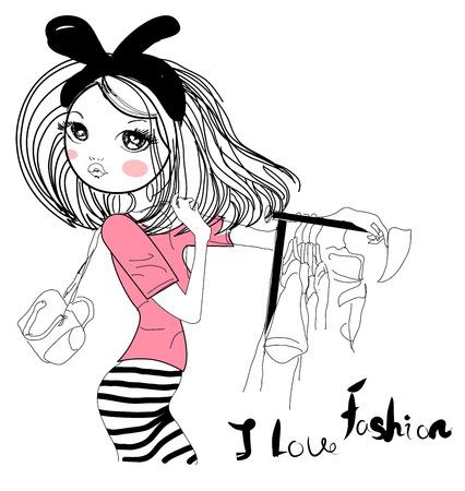 Fashion girl Stock fotó - 32410498