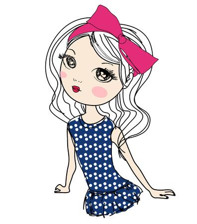 fashion sketch drawing girl