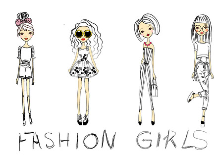 fashion sketch drawing girls
