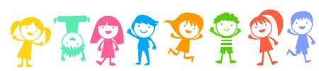 adolescent boy: Group of children