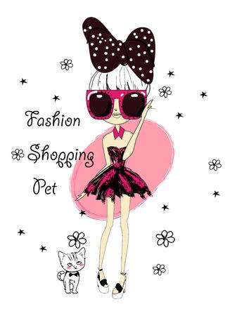 Mode-Skizze, Zeichnung Mädchen Standard-Bild - 34529448