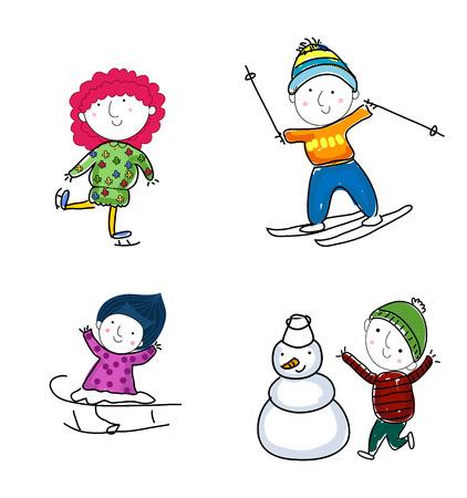 skating on thin ice: Winter kids