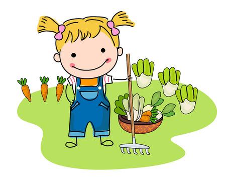 vegatables: farmer Illustration