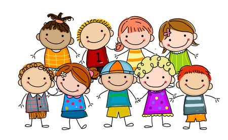 kindergartner: Happy kids Illustration