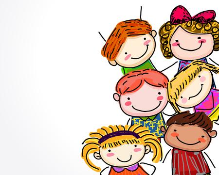 sketch of kids