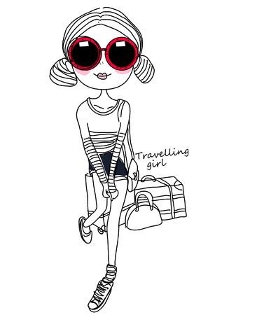 fashion girl: sketch of fashion girl