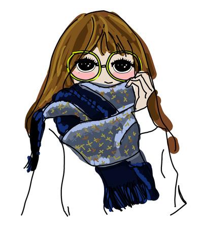 fashion girl: Sketch fashion girl Illustration