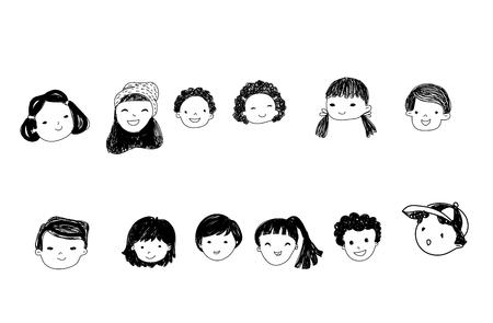 funny pictures: Sketch children Illustration
