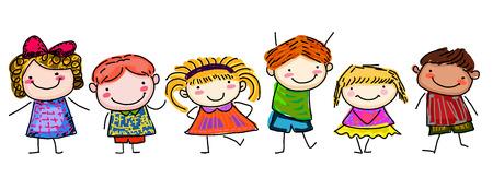 Sketch children Ilustrace