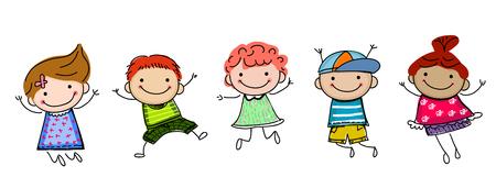 bocetos de personas: los niños del bosquejo