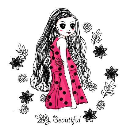 showgirl: pretty girl Illustration