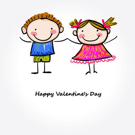 human relations: valentines day Illustration