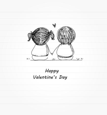 バレンタインの日  イラスト・ベクター素材