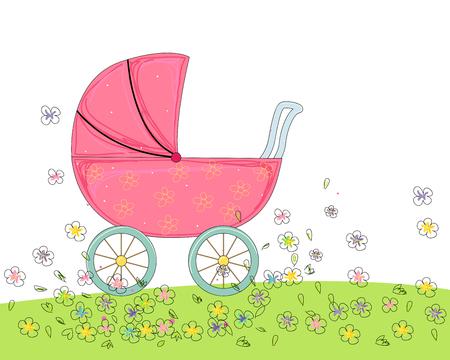 sketch: Sketch of stroller Illustration