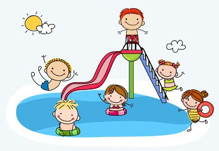 splash pool: Childrens Pool Party