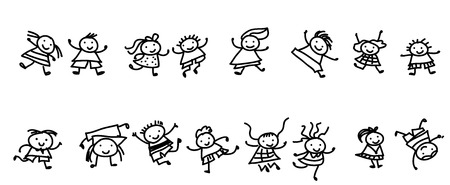 Grupo de niños de dibujo