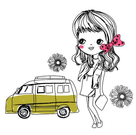 elation: Sketch girl
