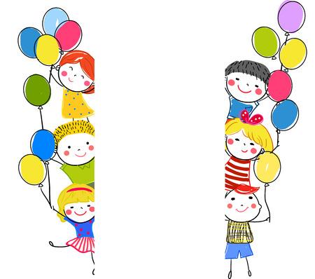 Sketch children Illusztráció