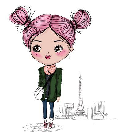 Illustration of a girl Illusztráció