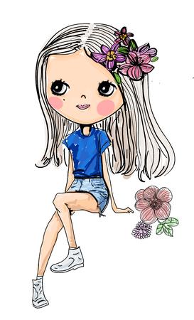 Pretty girl Illusztráció