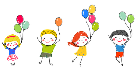 small business: children and balloon Illustration