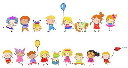 Happy children Illusztráció