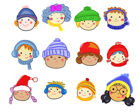 People face collection - winter