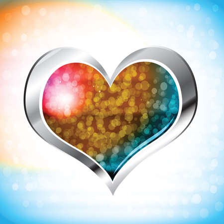 love of valentine heart on abstract background Vector