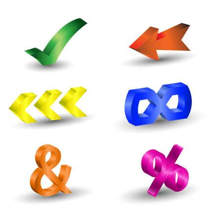 vector symbol of 3d Vector