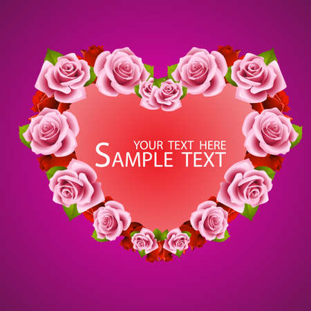 Vector rose design elements isolated on background. Red Vector