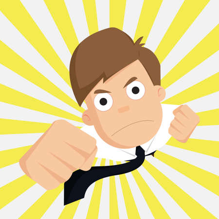 outstanding: businessman of success business,Outstanding,Employee.vector Illustration