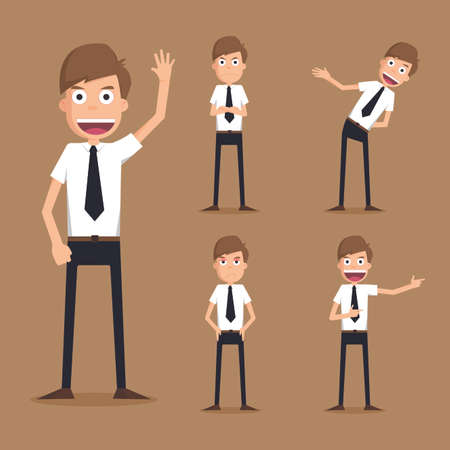 Set of businessman characters , eps10 vector format