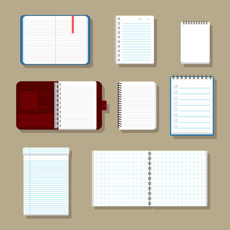 check book: Blank corporate identity set  Notebook. Vector Illustration