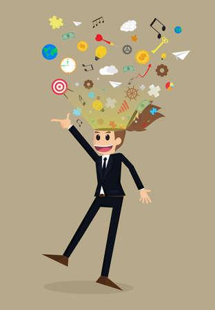 ejaculation: businessman idea Creative.vector