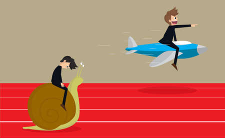 Business persons reaching the goal in a race Vector
