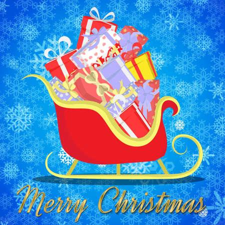 rikscha: Hintergrund von Weihnachten Geschenk Rikscha transport.vector