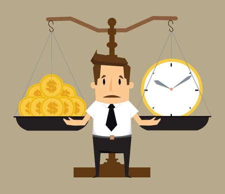 equidad: Equilibrio de tiempo y Money.vector Vectores