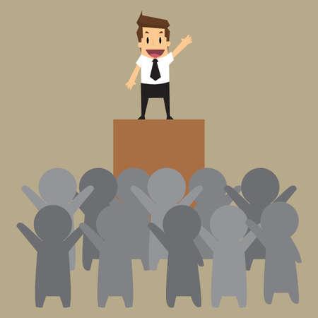 lider: hombre de negocios de leader.vector