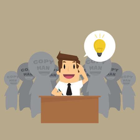 Man steelt Idea. Vector Stock Illustratie