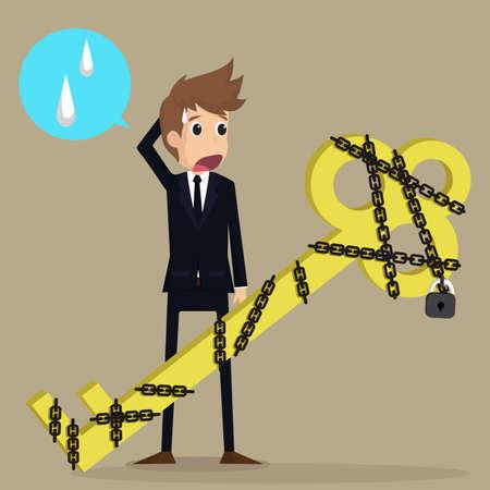 bind: businessman solution key unlocked Illustration