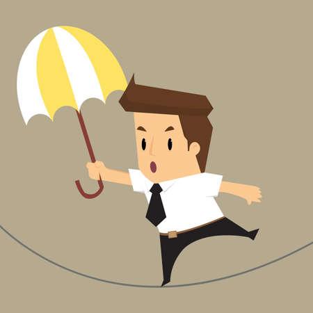 businessman walking: businessman walking risk.vector